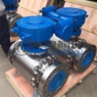Q347Y蜗轮硬密封固定式球阀(锻造不锈钢)