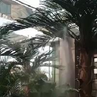 假山水池景观绿植喷雾浇灌系统