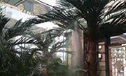 山水文园绿植喷雾加湿