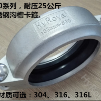 不锈钢拷贝林卡箍  沟槽式