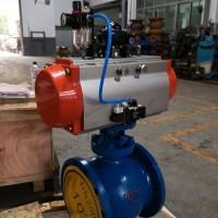 PBQ640H侧装式气动偏心半球阀 煤粉专用偏心半球阀