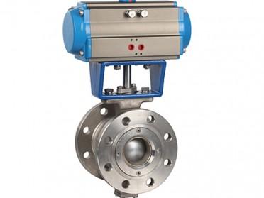 VQ670F对夹式气动V型球阀