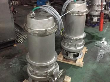温州石一泵阀QWP不锈钢潜水排污泵