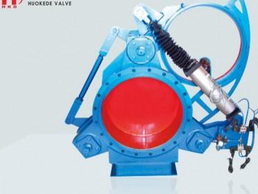 气动扇形盲板阀-工业炉系统阀门-霍科德
