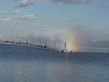 蒸发塘喷雾机 西北蒸发塘 泡菜池高浓盐水蒸发