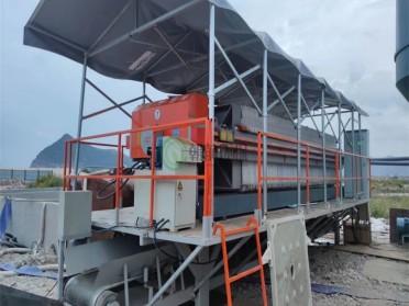 玉环工地桩基施工泥浆处理设备泥浆压滤脱水固化