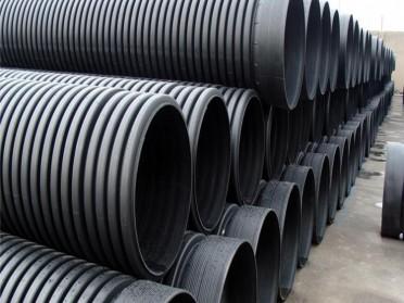 HDPE双壁波纹管dn300地下排污管排水管塑料管市政管道