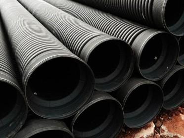 双壁波纹管聚乙烯pe管缠绕管黑色波纹管大口径市政排水排污管