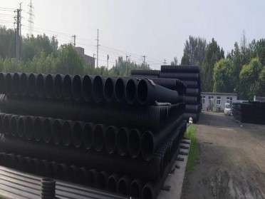 HDPE双壁波纹管雨水污水管国标排水排污管300市政国标PE波纹管500