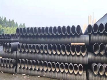 双壁波纹管市政大口径pe排水管污水管国标钢带增强螺旋波纹管