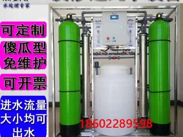 蓝水晶工业大型商用纯净水设备RO反渗透纯水设备井水地下水过滤器